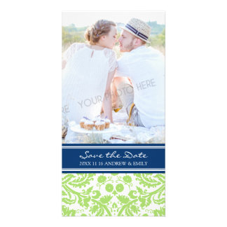 Lime Blue Save the Date Wedding Photo Cards