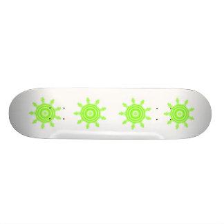 Lime Burst Fractal. Green and white. Skate Deck
