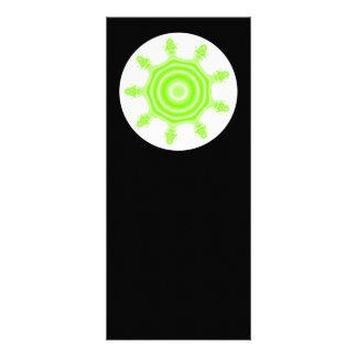 Lime Burst Fractal. Green, black and white. Rack Card Design