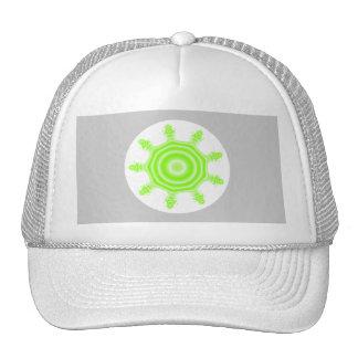 Lime Burst Fractal Green gray and white Trucker Hat