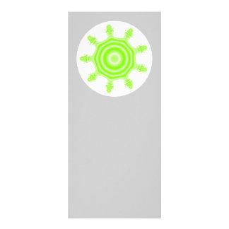 Lime Burst Fractal. Green, gray and white. Custom Rack Card