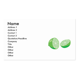 lime business card template