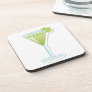 Lime cocktail coasters