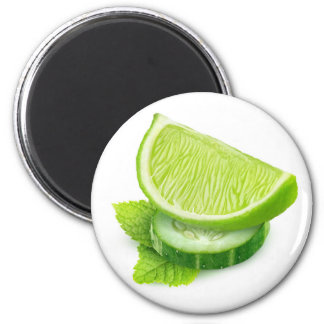 Lime, cucumber and mint magnet