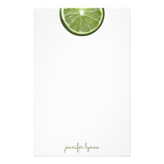 Lime Customised Stationery