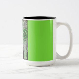 Lime Daisy Two-Tone Coffee Mug