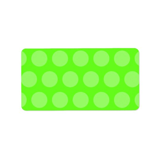 Lime Dots Address Label