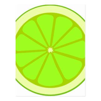 Lime Drawing Postcard