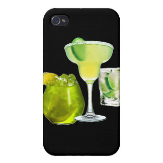 Lime Drinks Cases For iPhone 4