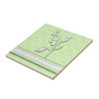 Lime Elegance #1 Small Square Tile