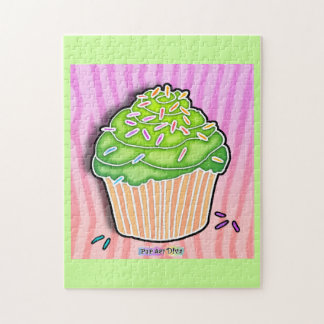 Lime Frosted Cupcake Puzzle