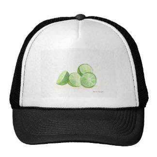 Lime fruit design real limes mesh hats