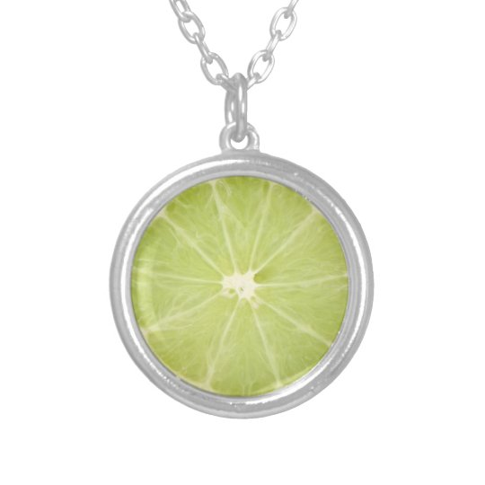 Lime Fruit Fresh Slice - Necklace
