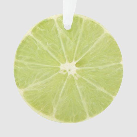 Lime Fruit Fresh Slice - Ornament