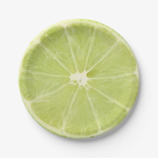 Lime Fruit Fresh Slice - Paper Plate 7 Inch Paper Plate