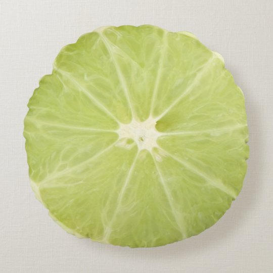 Lime Fruit Fresh Slice - Round Pillow