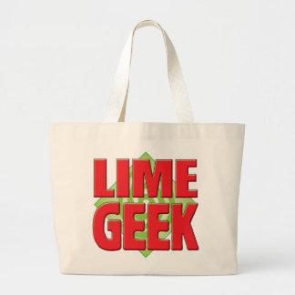 Lime Geek v2 Tote Bags