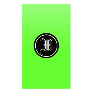 Lime Gothic Pack Of Standard Business Cards