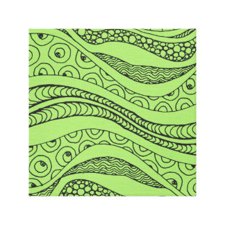 Lime Green Abstract Canvas Canvas Prints