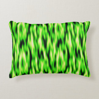 Lime Green Abstract Pattern Accent Pillow