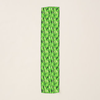 Lime Green Abstract Pattern Chiffon Scarf