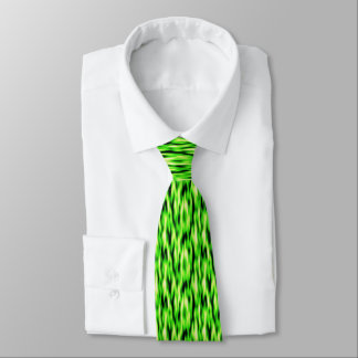Lime Green Abstract Pattern Neck Tie