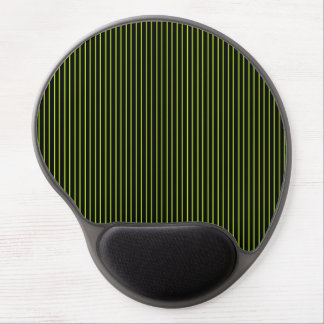 Lime Green and Black Pinstripe Gel Mousepad