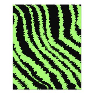 Lime Green and Black Zebra Print Pattern Full Color Flyer