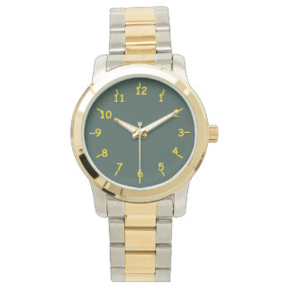 Lime Green and Dairy Gold Watch