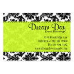 Lime Green and Damask