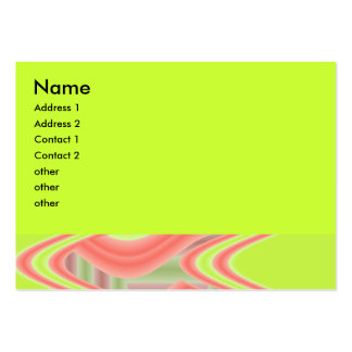 lime Green and peach abstract Business Card Templates