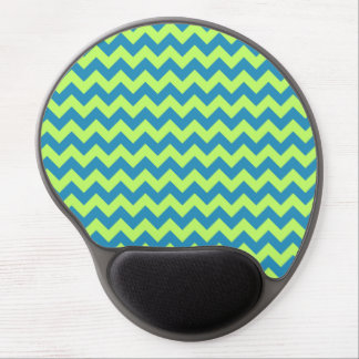 Lime Green and Teal Chevron Gel Mouse Pad