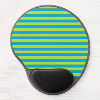 Lime Green and Turquoise Stripes Gel Mouse Pad