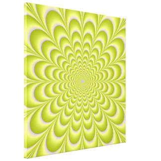 Lime Green and Violet Rosette Canvas Print