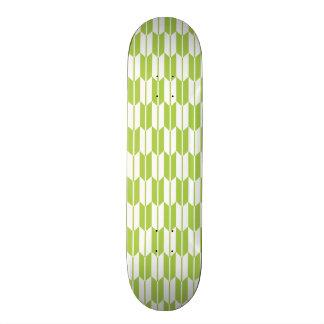 Lime Green and White Arrow Tails Skateboard Decks