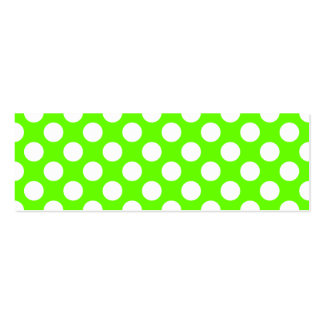 Lime Green and White Polka Dots Pack Of Skinny Business Cards