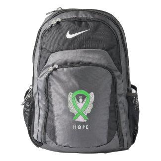 Lime Green Awareness Ribbon Angel Custom Backpack