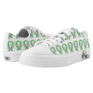 Lime Green Awareness Ribbon Angel Custom Sneakers