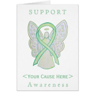 Lime Green Awareness Ribbon Angel Customized Card