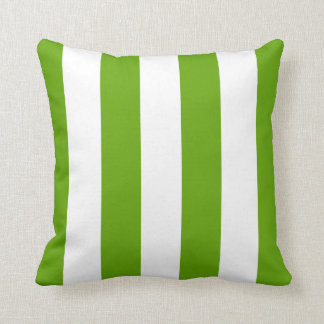 Lime Green Awning Stripe Cushion