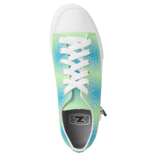 Lime Green baby Blue Lotus Flower Sneaker