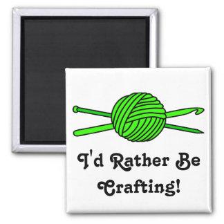 Lime Green Ball of Yarn (Knit & Crochet) Fridge Magnet