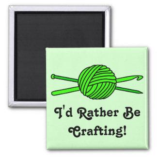 Lime Green Ball of Yarn (Knit & Crochet) Refrigerator Magnets