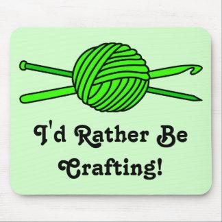 Lime Green Ball of Yarn (Knit & Crochet) Mousepad