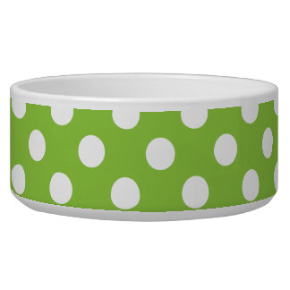 Lime Green Band White Polka Dots