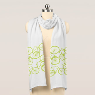 Lime Green Bicycle Scarf