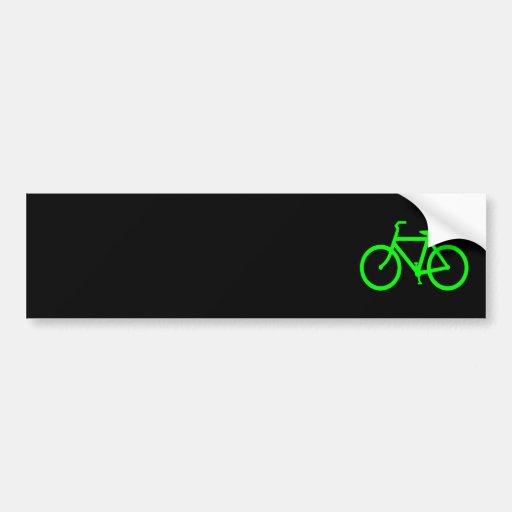 Lime Green Bike Bumper Stickers