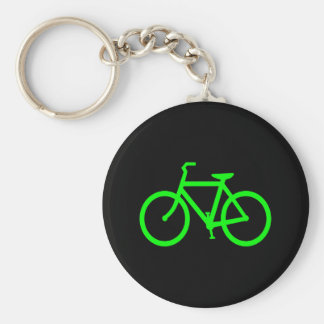 Lime Green Bike Key Ring