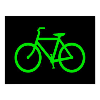 Lime Green Bike Poster
