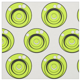 Lime green,black and white circles designed fabric